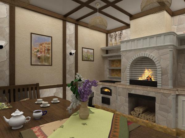 Подбирая материалы для летней кухни помните, что в данном помещении большие перепады температур, и конструкции должны быть устойчивы к холоду в зимний период