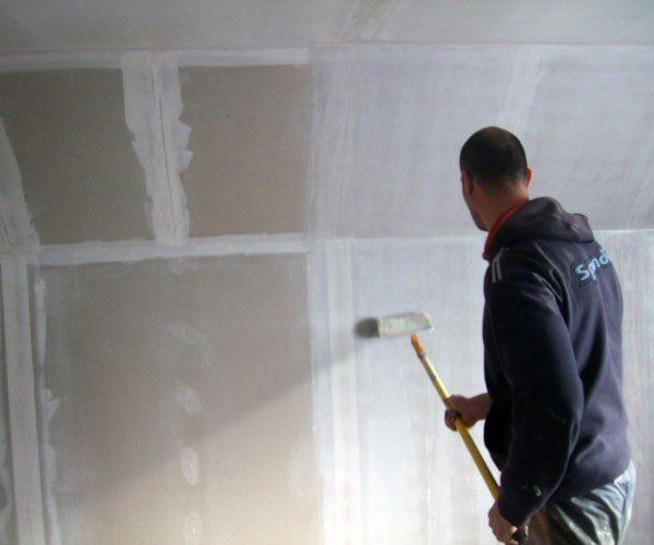 Подготовка гипсокартона под покраску.