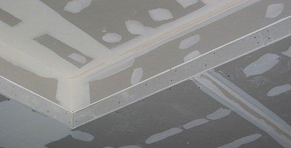 Подготовка к покраске потолка из гипсокартона