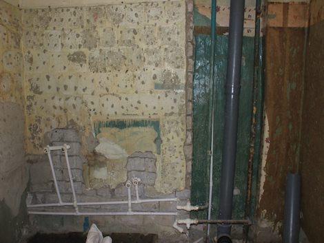 Подготовленные бетонные стены