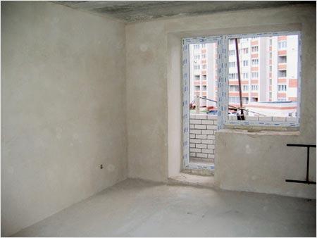 Подготовленные к покраске бетонные стены
