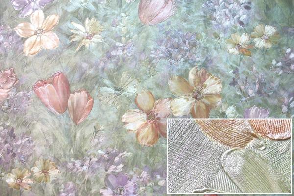 Подобные покрытия обязательно должны обладать определенной толщиной, которая может быть использована для создания рельефа или рисунка