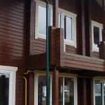 Покраска деревянного фасада