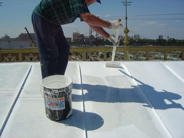 Покраска стальной крыши