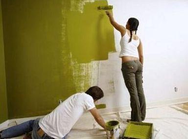 покраска стены латекной краской