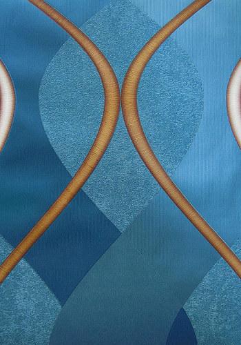 Покрытые винилом синие флизелиновые обои