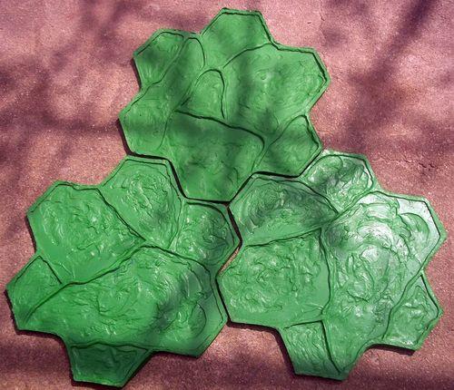 Полиуретановые штампы с оттиском каменной кладки