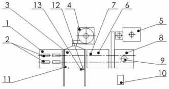 Полная схема комплекса покраски с использованием технологии нанесения порошковой краски (см. описание в тексте)