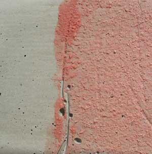 Поверхность после высыхания грунта.