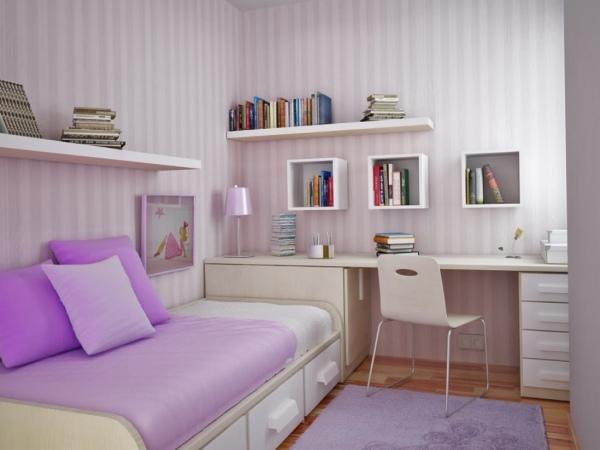 Прекрасный образец удачного дизайна компактной комнаты.