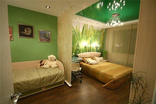 Превращение одной комнаты в несколько при помощи выделения отдельных зон