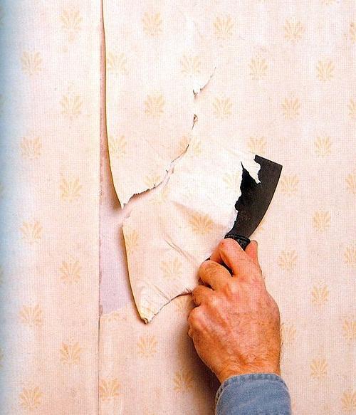 При неумелом подходе полотно отрывается мелкими кусками и снимается трудно.
