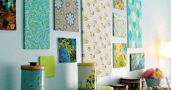 При правильном подходе и выборе цветов даже на небольшой стенке можно поместить целую галерею, хотя при этом лучше использовать изделия, при создании которых покрытие помещают на подложку или рамку