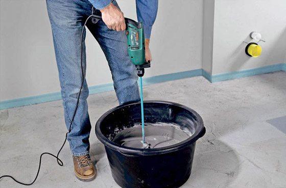 Приготовление известково-цементного раствора