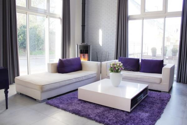 Применение фиолетовых оттенков