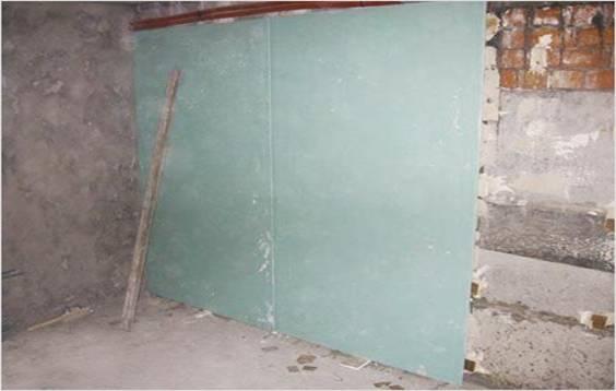 Применение плит ГКЛ для выравнивания стен