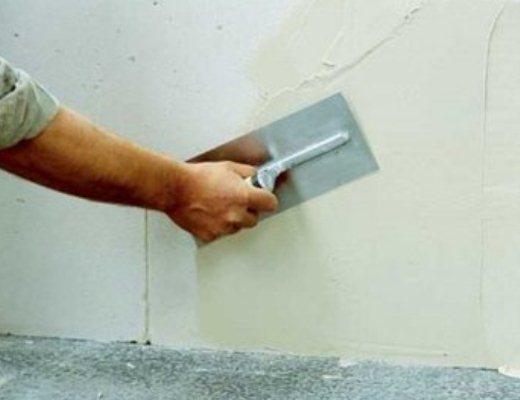 Пример гипсового финишного слоя на стене