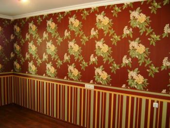 Пример горизонтального разделения комнаты