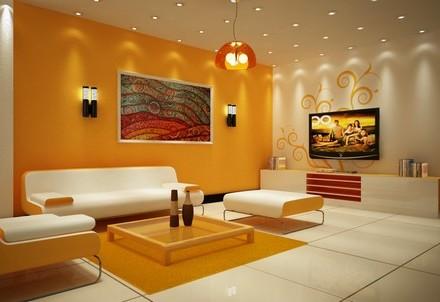 Пример интерьера с окрашенными стенами