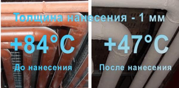 Пример использования энергосберегающей краски.