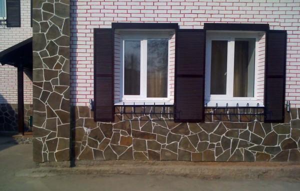 Пример использования камня для отделки фасада