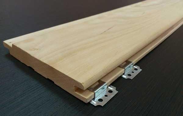 Пример крепления планки металлическими кляммерами