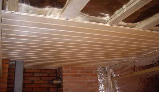 Пример облицовки потолка