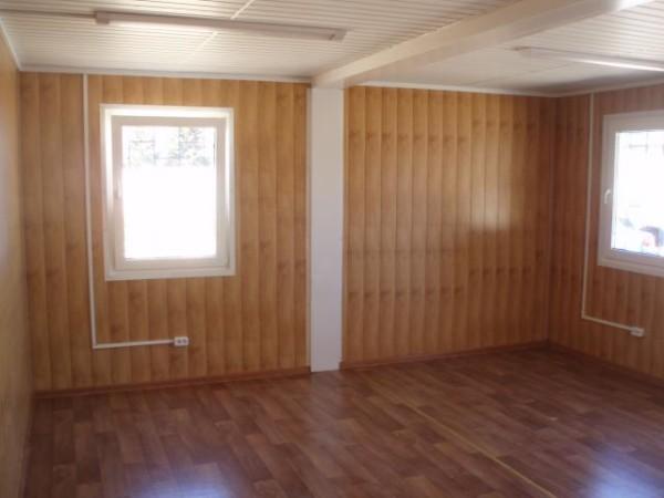 Пример облицовки сайдингом комнаты в коттедже