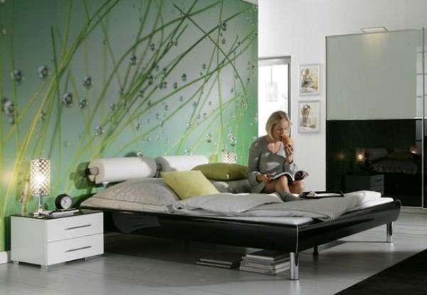 Пример оформления спальной комнаты.