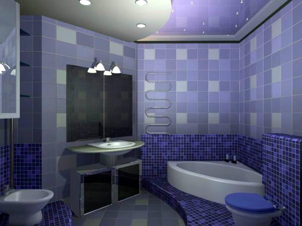 Пример отделки ванной комнаты