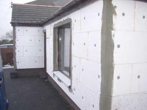Пример теплоизоляции одноэтажной постройки