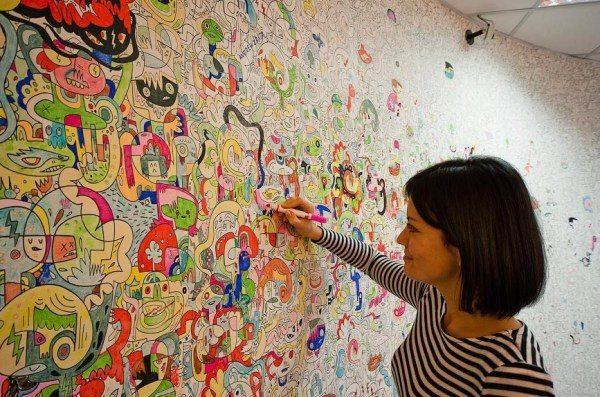 Пример того, как раскрасить стены в квартире.