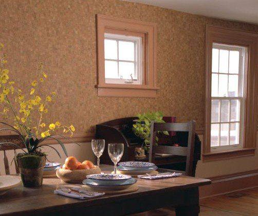 Пробковая подложка на стену вместо обоев – отличное декоративное решение
