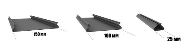 Профиль алюминиевых панелей для монтажа реечных потолков