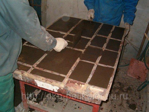 Производство каменных обоев собственными руками