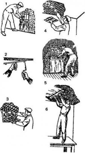 Процесс намазывания при помощи сокола.