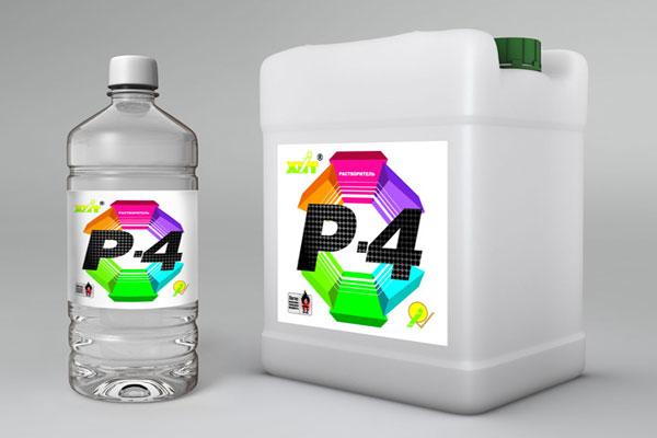 Растворитель Р-4 используется для разбавления ЛКМ на основе поливинилхлорида.