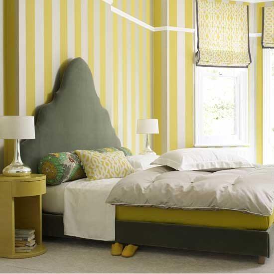 Разбавленный цвет в спальне.