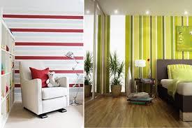 Разное направление полосы по-разному оказывает влияние на визуальное восприятие помещения