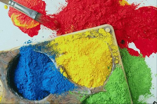 Разнообразие пигментов, которыми можно раскрасить цементный раствор