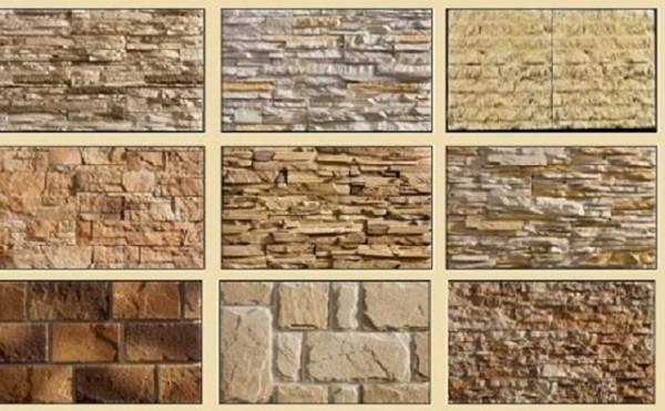 Разнообразие цветовой гаммы камня из бетона.