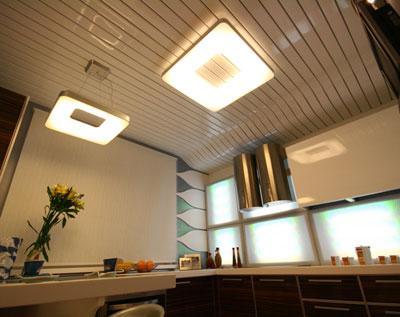 Реечный потолок сложной формы украсит любой интерьер