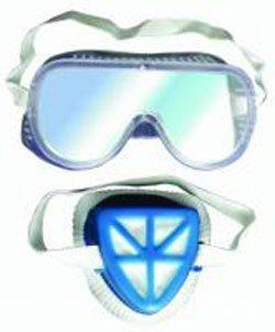 Респиратор и защитные очки