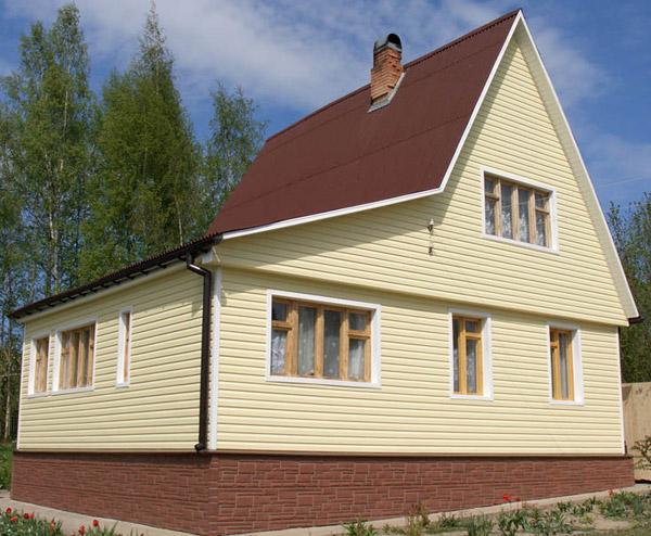 Результат правильно проделанных работ по отделке фасада