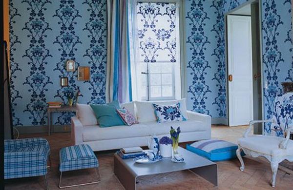 Романтичный голубой интерьер