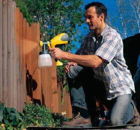 Ручной распылитель – это удобно.