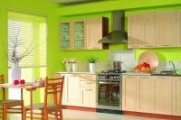 Салатовый дизайн кухни