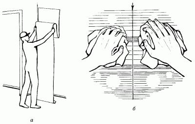 Схема нанесения обоев встык