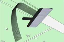 Схема приклеивания ленты.