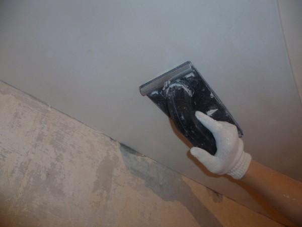 Шлифование потолка